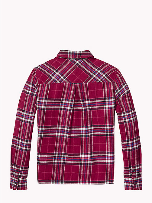 TOMMY HILFIGER Check Print Cotton Shirt - RUMBA RED / MULTI - TOMMY HILFIGER Tops & T-shirts - detail image 1