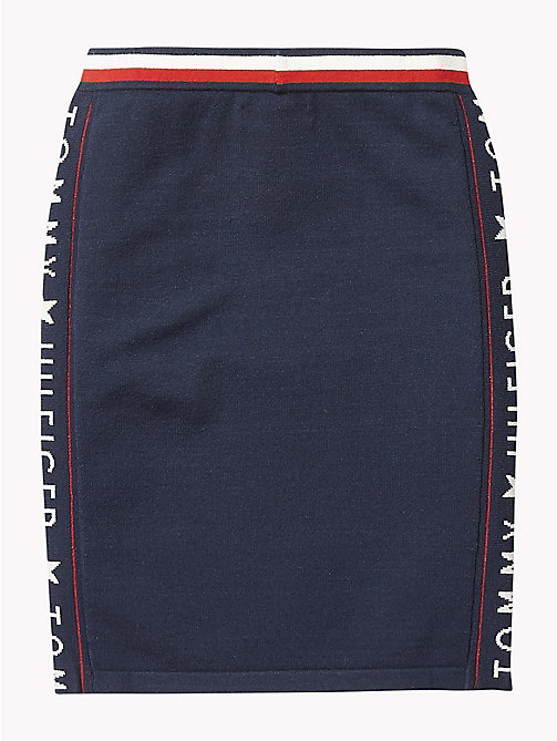 TOMMY HILFIGER Logo Mini Skirt - BLACK IRIS - TOMMY HILFIGER Girls - detail image 1
