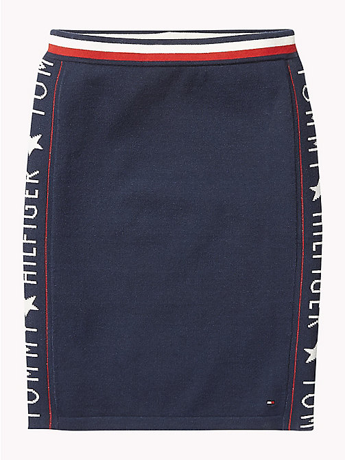 TOMMY HILFIGER Logo Mini Skirt - BLACK IRIS - TOMMY HILFIGER Trousers, Shorts & Skirts - main image