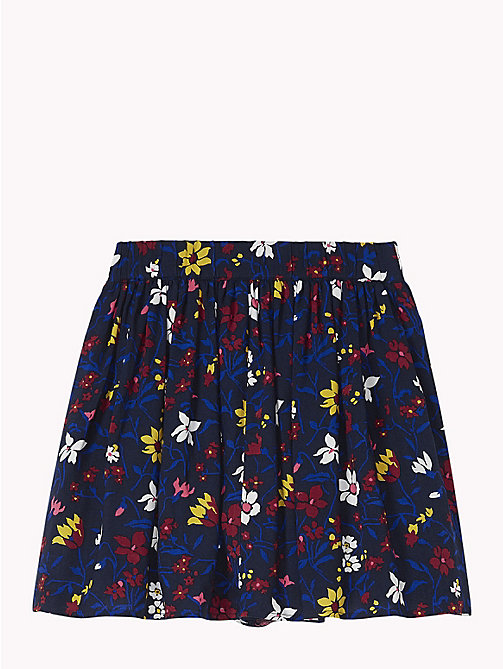 TOMMY HILFIGER Floral Print Mini Skirt - BLACK IRIS / MULTI - TOMMY HILFIGER Girls - detail image 1