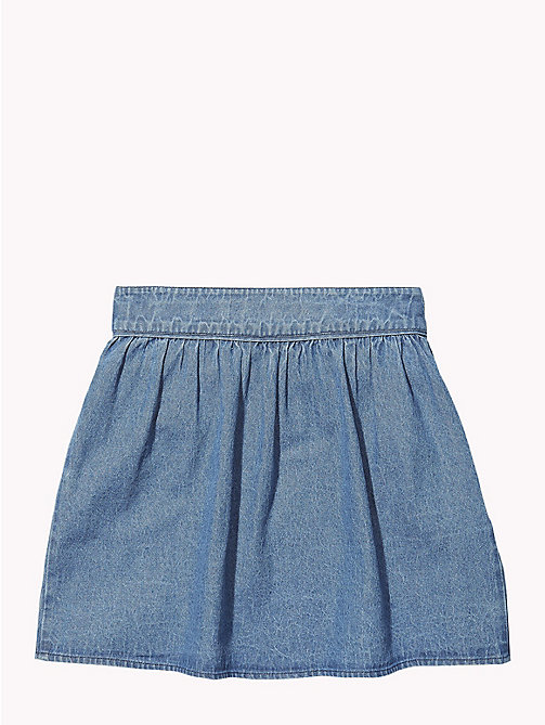 TOMMY HILFIGER Elasticated Waist Denim Skirt - LIGHT BLUE - TOMMY HILFIGER Trousers, Shorts & Skirts - detail image 1