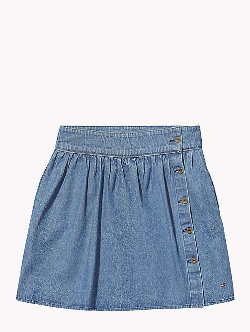 TOMMY HILFIGER Elasticated Waist Denim Skirt - LIGHT BLUE - TOMMY HILFIGER Trousers, Shorts & Skirts - main image