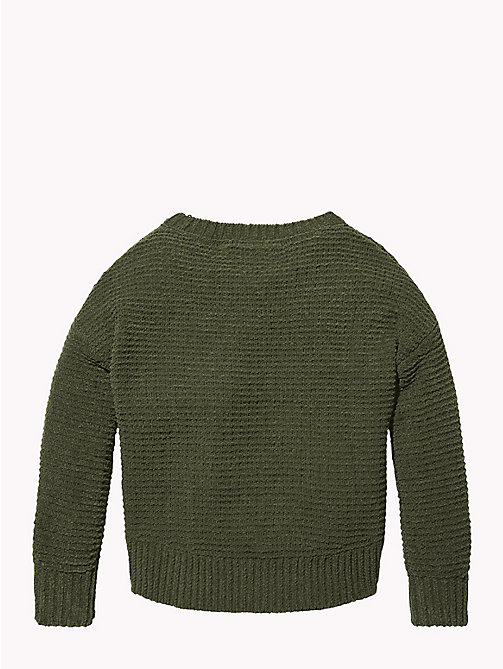TOMMY HILFIGER Chunky Knit Oversized Jumper - KOMBU GREEN - TOMMY HILFIGER Girls - detail image 1