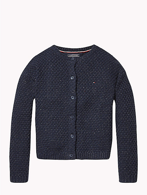 TOMMY HILFIGER Fluffy Sparkle Cardigan - BLACK IRIS - TOMMY HILFIGER Girls - main image