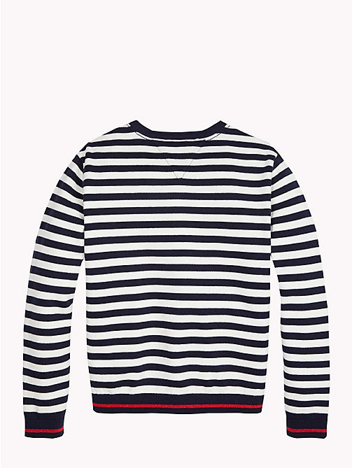TOMMY HILFIGER Woven Star Stripe Cardigan - BLACK IRIS / SNOW WHITE - TOMMY HILFIGER Knitwear - detail image 1