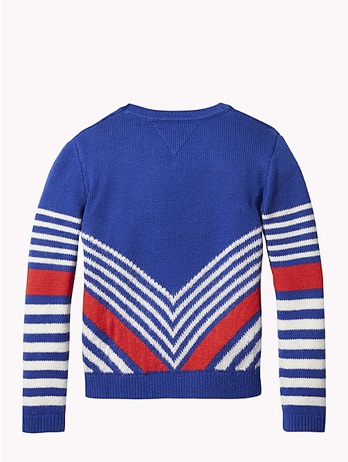 TOMMY HILFIGER Kids' Chevron Jumper - MAZARINE BLUE/MULTI - TOMMY HILFIGER Girls - detail image 1