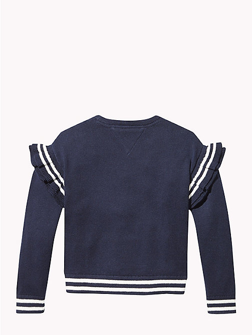 TOMMY HILFIGER Stripe Ruffle Jumper - BLACK IRIS - TOMMY HILFIGER Girls - detail image 1