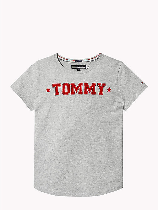 TOMMY HILFIGER T-shirt girocollo con motivo grafico - GREY HEATHER - TOMMY HILFIGER Top & T-shirt - immagine principale