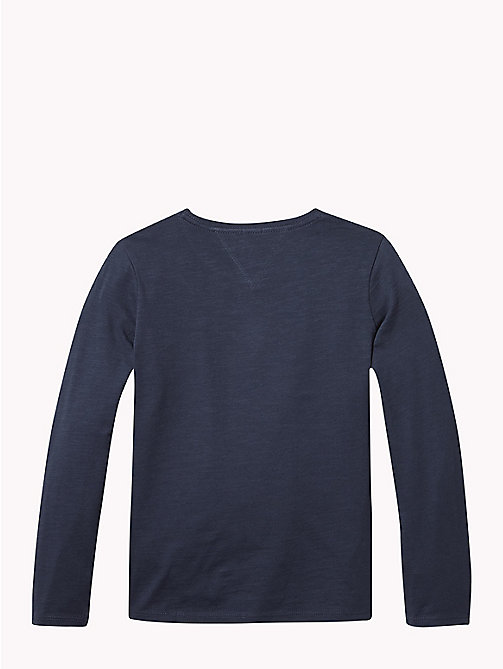 TOMMY HILFIGER Long Sleeve Star T-Shirt - BLACK IRIS - TOMMY HILFIGER Tops & T-shirts - detail image 1