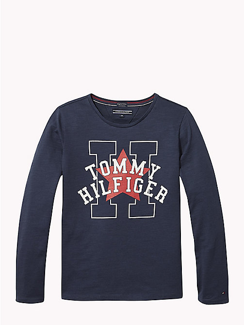 TOMMY HILFIGER Long Sleeve Star T-Shirt - BLACK IRIS - TOMMY HILFIGER Girls - main image