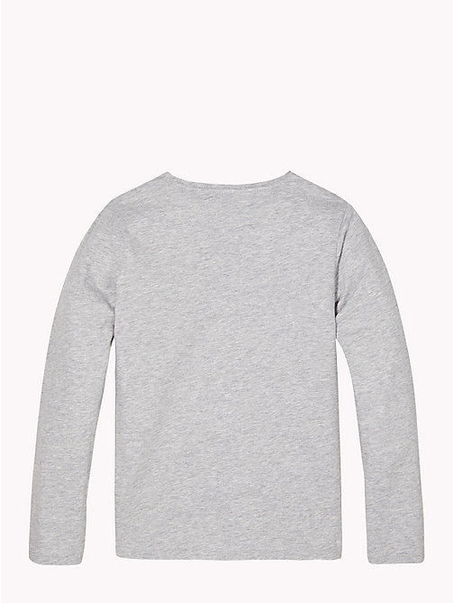 TOMMY HILFIGER Long Sleeve Star T-Shirt - GREY HEATHER - TOMMY HILFIGER Girls - detail image 1