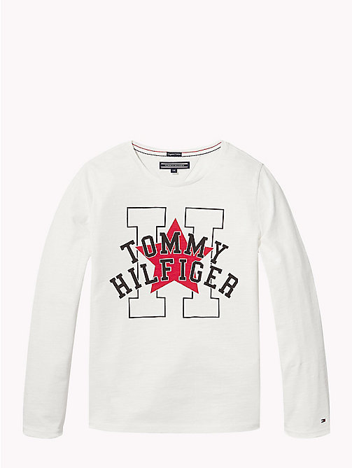 TOMMY HILFIGER Long Sleeve Star T-Shirt - SNOW WHITE - TOMMY HILFIGER Tops & T-shirts - main image
