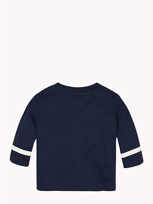 TOMMY HILFIGER Boxy Three Quarter Sleeve T-Shirt - BLACK IRIS - TOMMY HILFIGER Girls - detail image 1