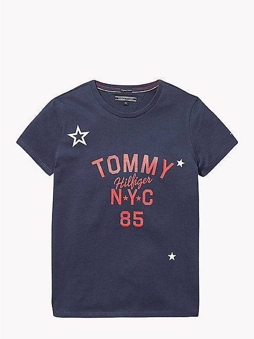 TOMMY HILFIGER NYC Crew Neck T-Shirt - BLACK IRIS - TOMMY HILFIGER Girls - main image