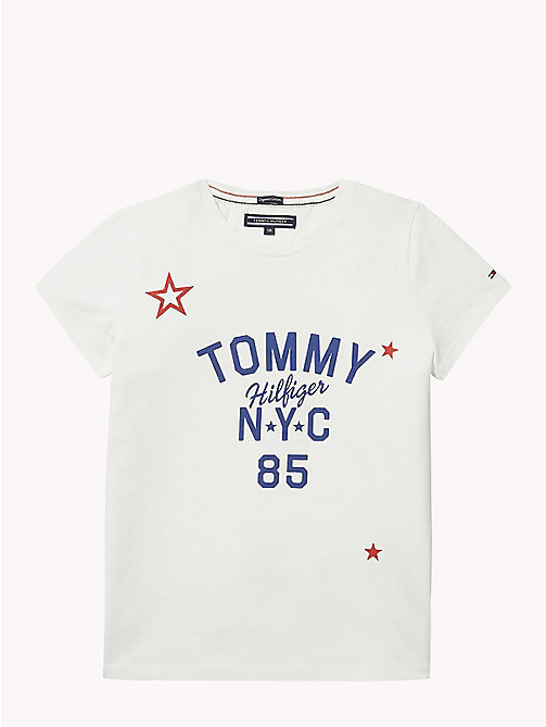 TOMMY HILFIGER NYC Crew Neck T-Shirt - SNOW WHITE - TOMMY HILFIGER Tops & T-shirts - main image
