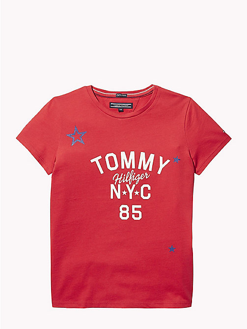 TOMMY HILFIGER NYC Crew Neck T-Shirt - TRUE RED - TOMMY HILFIGER Tops & T-shirts - main image