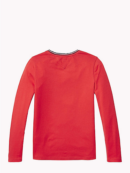 TOMMY HILFIGER Script Logo Long Sleeve T-Shirt - TRUE RED - TOMMY HILFIGER Tops & T-shirts - detail image 1