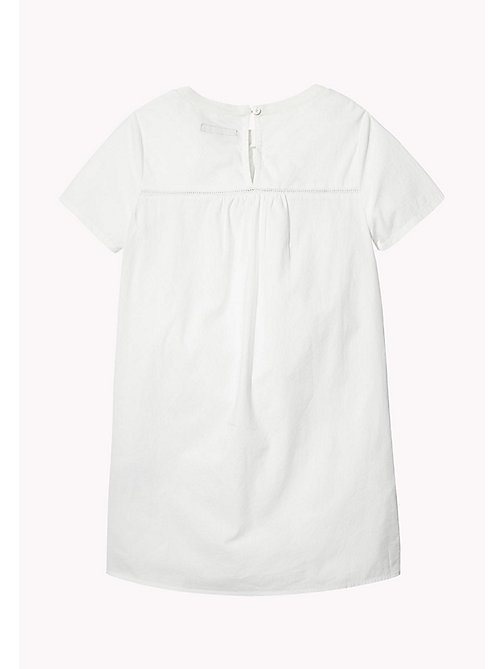 TOMMY HILFIGER Embroidered Yoke Dress - BRIGHT WHITE - TOMMY HILFIGER Kids - detail image 1