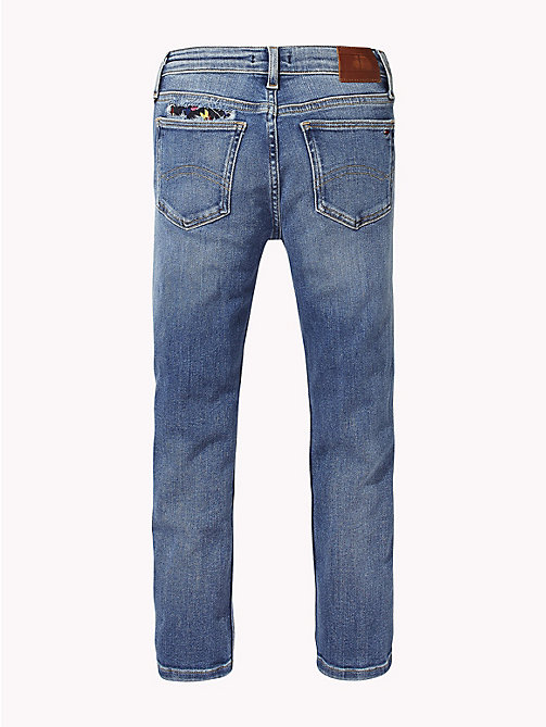 TOMMY HILFIGER Slim Fit Distressed Jeans - FOREST LIGHT BLUE STRETCH - TOMMY HILFIGER Girls - detail image 1