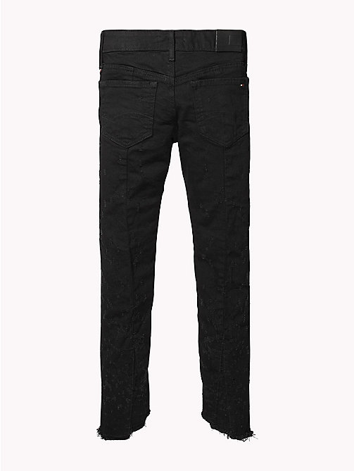 TOMMY HILFIGER Nora Skinny Cropped Distressed Jeans - AIKEN DOTTED BLACK STRETCH - TOMMY HILFIGER Jeans - detail image 1