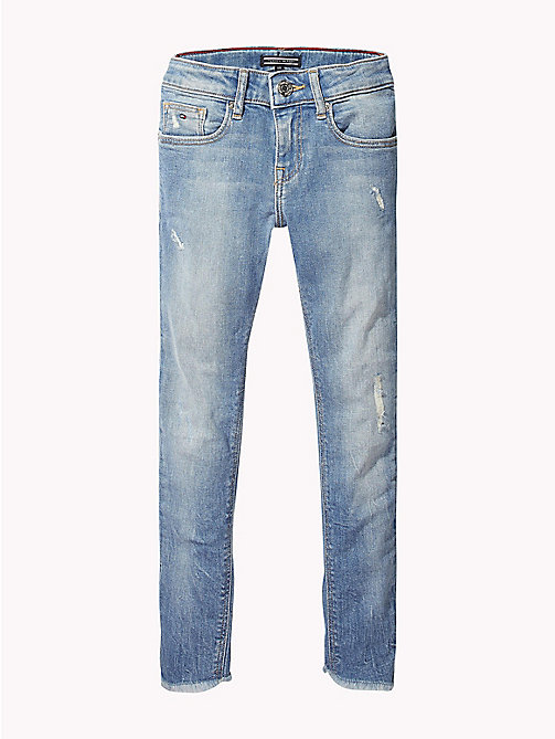 TOMMY HILFIGER Nora Cropped Fit Distressed Jeans - AUTHENTIC SALT LAKE STRETCH - TOMMY HILFIGER Girls - main image