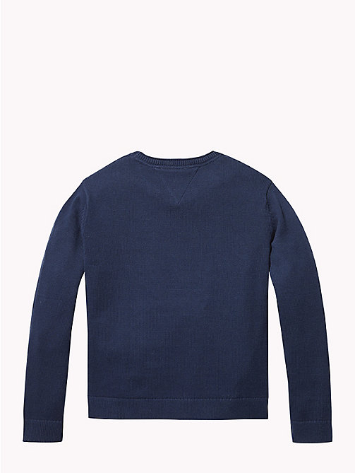 TOMMY HILFIGER Star Logo Jumper - BLACK IRIS - TOMMY HILFIGER Girls - detail image 1