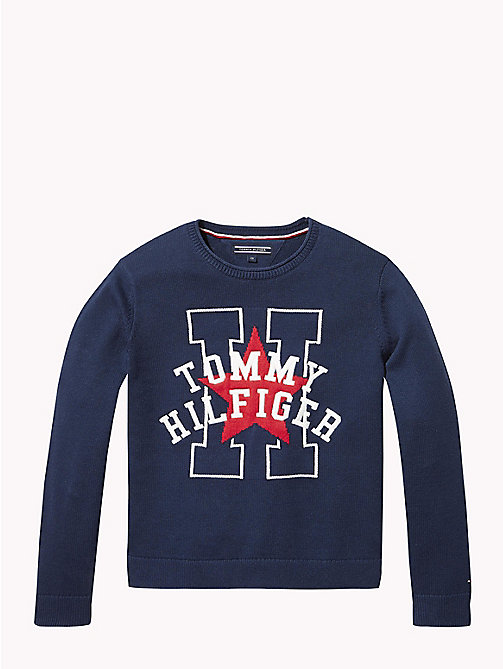 TOMMY HILFIGER Star Logo Jumper - BLACK IRIS - TOMMY HILFIGER Girls - main image