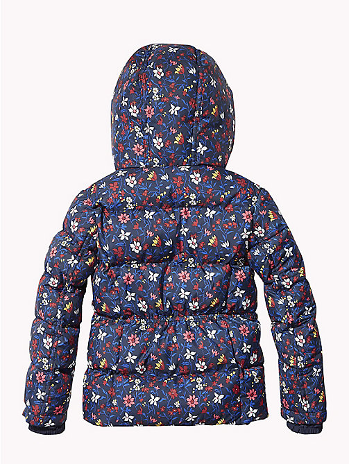 TOMMY HILFIGER All-Over Floral Print Puffer Jacket - BLACK IRIS/MULTI - TOMMY HILFIGER Coats & Jackets - detail image 1