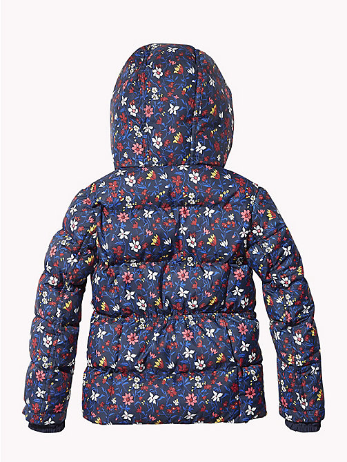 TOMMY HILFIGER All-Over Floral Print Puffer Jacket - BLACK IRIS / MULTI - TOMMY HILFIGER Girls - detail image 1