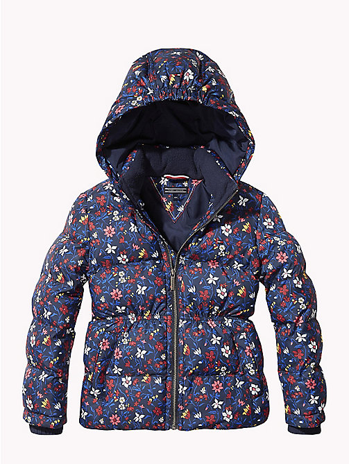 TOMMY HILFIGER All-Over Floral Print Puffer Jacket - BLACK IRIS/MULTI - TOMMY HILFIGER Coats & Jackets - main image