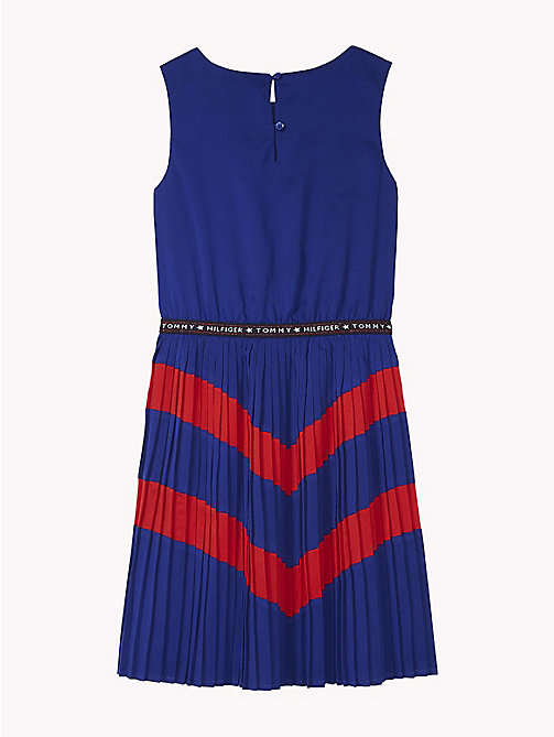 TOMMY HILFIGER Pleated Dress - MAZARINE BLUE/TRUE RED - TOMMY HILFIGER Dresses - detail image 1