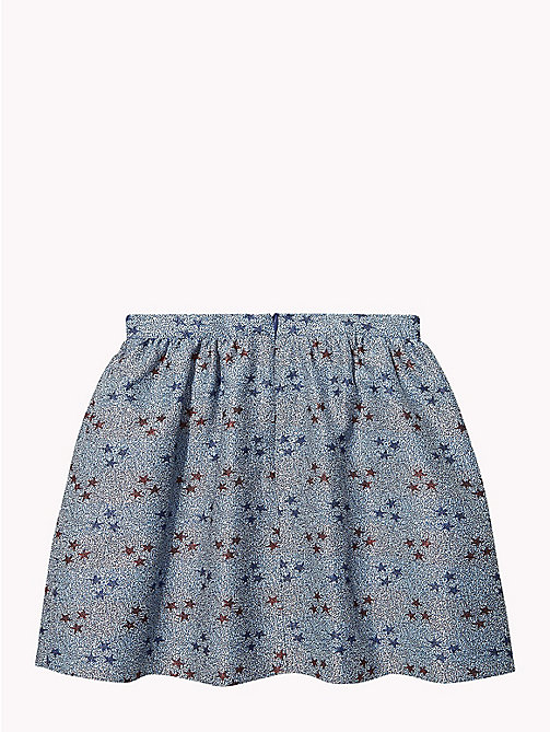 TOMMY HILFIGER Star Print Puffball Mini Skirt - MAZARINE BLUE / MULTI - TOMMY HILFIGER Trousers, Shorts & Skirts - detail image 1