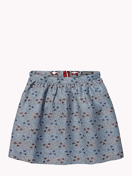 TOMMY HILFIGER Star Print Puffball Mini Skirt - MAZARINE BLUE / MULTI - TOMMY HILFIGER Girls - main image
