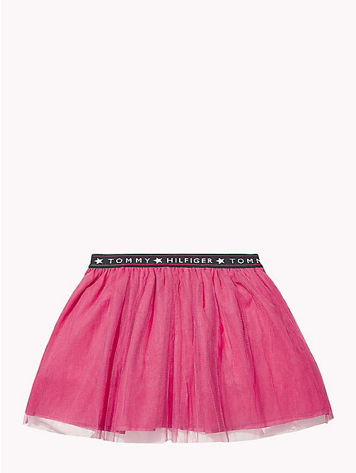 TOMMY HILFIGER Gonna in tulle con elastico in vita - PINK FLAMBE - TOMMY HILFIGER Pantaloni & Gonne - dettaglio immagine 1