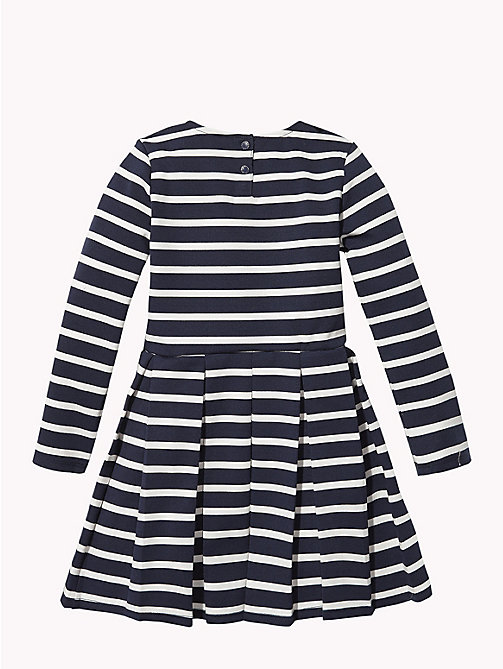 TOMMY HILFIGER Stripe Long Sleeve Skater Dress - BLACK IRIS / SNOW WHITE - TOMMY HILFIGER Dresses - detail image 1