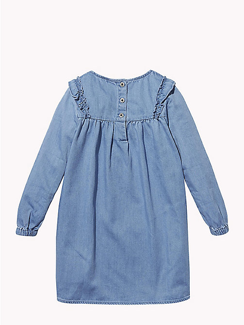 TOMMY HILFIGER Ruffled Denim Smock Dress - REDDING NEW MID - TOMMY HILFIGER Girls - detail image 1
