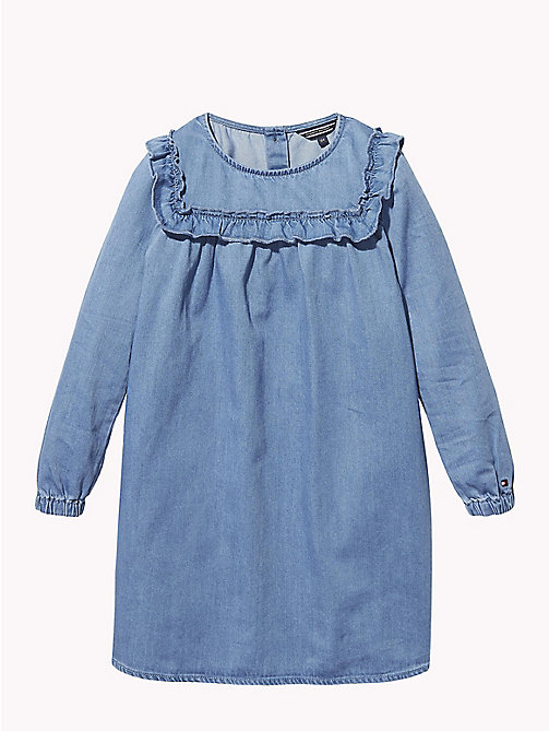 TOMMY HILFIGER Ruffled Denim Smock Dress - REDDING NEW MID - TOMMY HILFIGER Girls - main image
