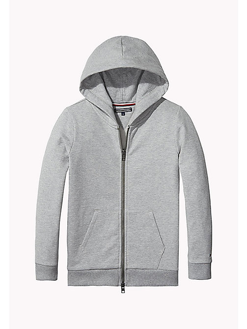 TOMMY HILFIGER Zip Hoodie - GREY HEATHER - TOMMY HILFIGER Girls - main image