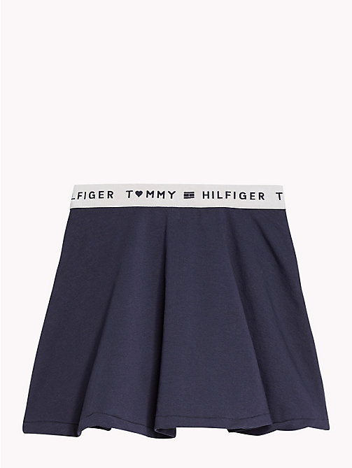 TOMMY HILFIGER Skater Skirt - NAVY BLAZER - TOMMY HILFIGER Trousers, Shorts & Skirts - detail image 1