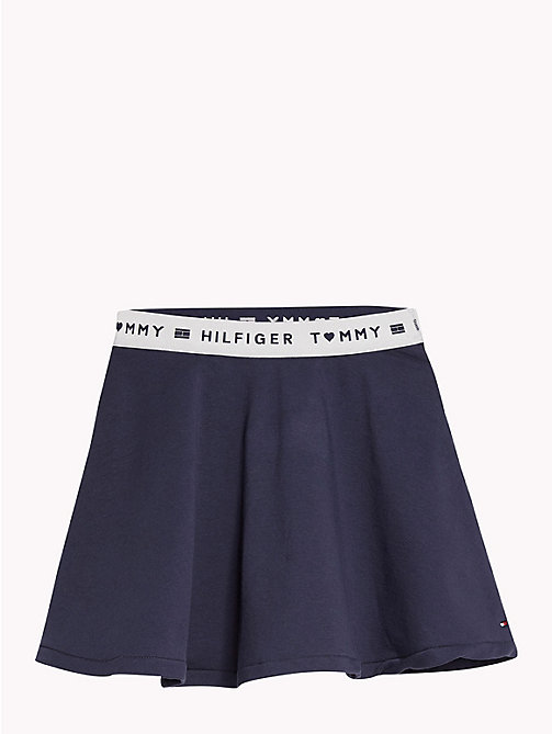 TOMMY HILFIGER Skater Skirt - NAVY BLAZER - TOMMY HILFIGER Trousers, Shorts & Skirts - main image