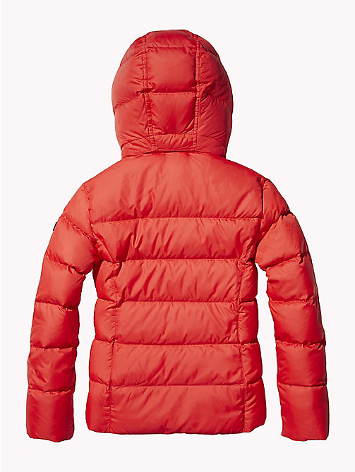 TOMMY HILFIGER Jacket With Faux Fur Trim Hood - TRUE RED -  Coats & Jackets - detail image 1