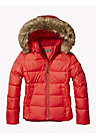 Jacket With Faux Fur Trim Hood