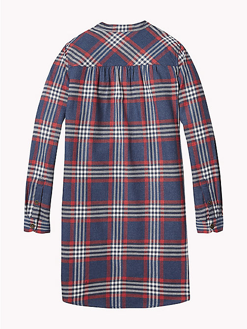 TOMMY HILFIGER Check Smock Shirt Dress - BLACK IRIS / MULTI - TOMMY HILFIGER Girls - detail image 1
