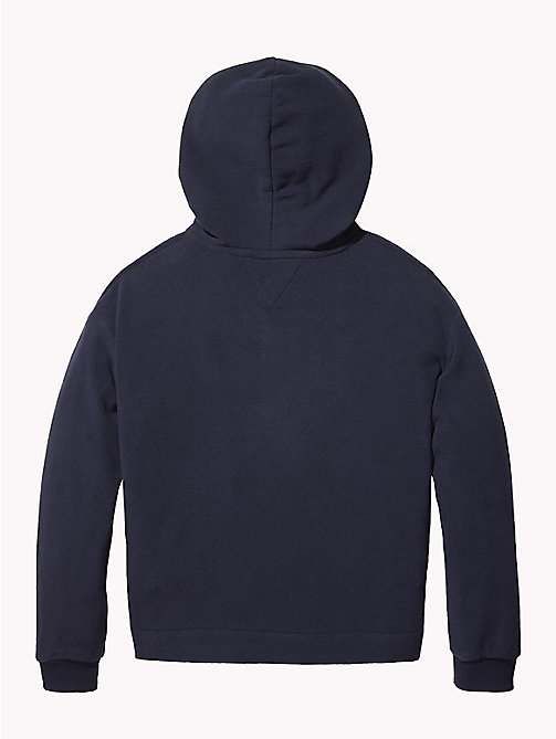 TOMMY HILFIGER Star Embroidery Fleece Hoody - BLACK IRIS - TOMMY HILFIGER Sweatshirts & Hoodies - detail image 1
