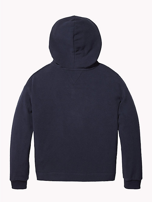 TOMMY HILFIGER Star Embroidery Fleece Hoody - BLACK IRIS - TOMMY HILFIGER Girls - detail image 1