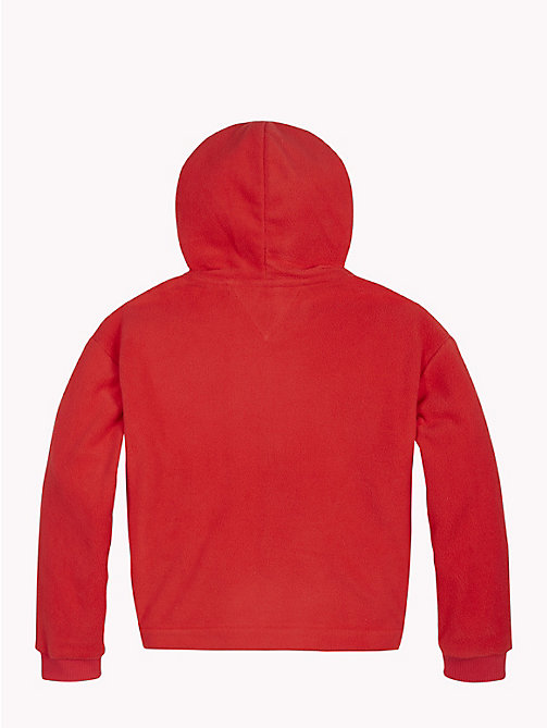 TOMMY HILFIGER Star Embroidery Fleece Hoody - TRUE RED - TOMMY HILFIGER Girls - detail image 1