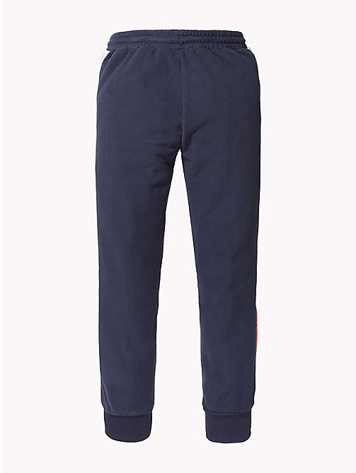 TOMMY HILFIGER Colour-Blocked Fleece Joggers - BLACK IRIS - TOMMY HILFIGER Trousers, Shorts & Skirts - detail image 1