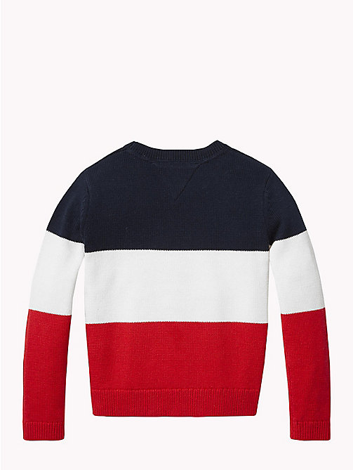TOMMY HILFIGER Stars and Stripes Knitted Jumper - BLACK IRIS MULTI - TOMMY HILFIGER Knitwear - detail image 1