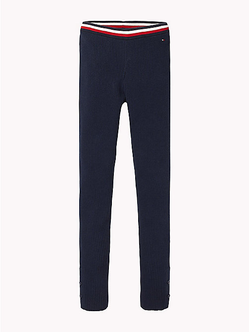 TOMMY HILFIGER Signature Tape Waistband Leggings - BLACK IRIS - TOMMY HILFIGER Girls - main image