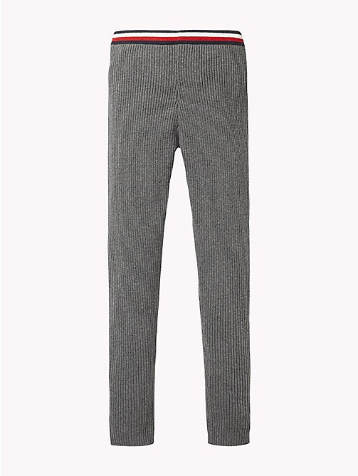 TOMMY HILFIGER Signature Tape Waistband Leggings - DARK GREY HEATHER - TOMMY HILFIGER Girls - detail image 1